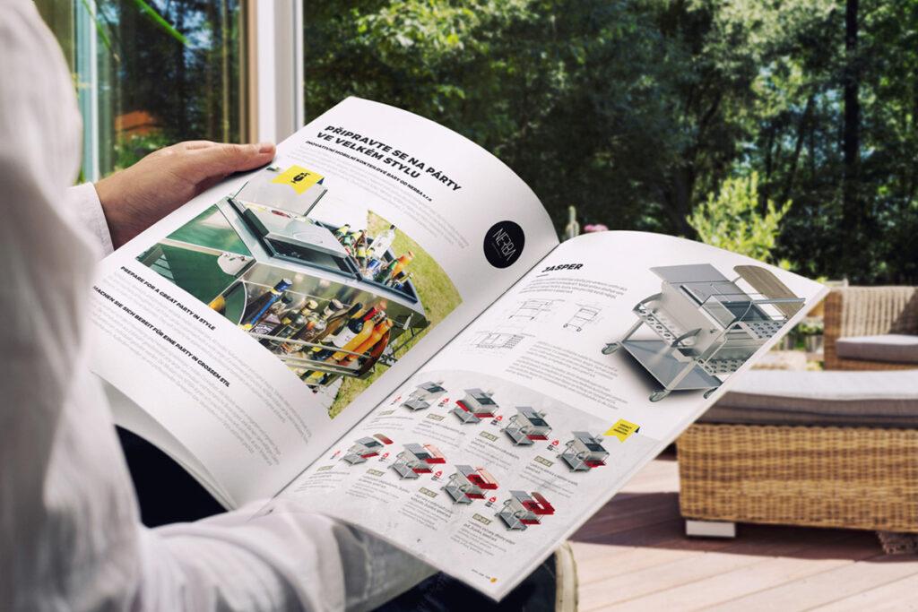 Grafický návrh a tisk katalogu produktů NERBA